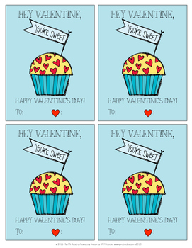Cupcake Valentine's Day Cards