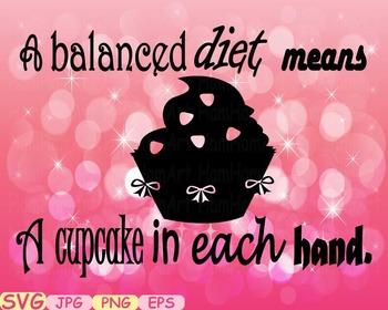 Cupcake Word Art clip art cake diets are hard svg gym weig