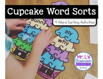 Cupcake Word Sorting Activity
