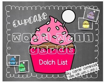 Cupcake Word Wall Packet