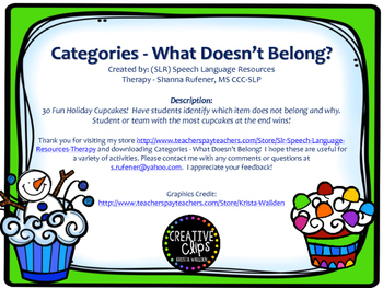 Cupcake categories - What doesn't belong?