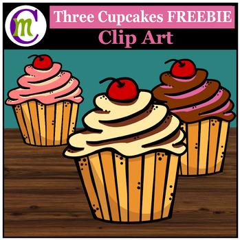 Cupcakes Clip Art FREEBIE