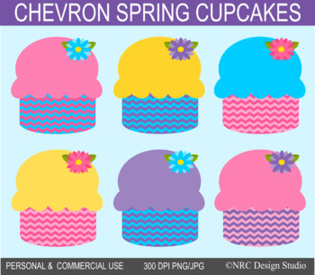 Cupcakes Clip Art, Spring, Food Clipart