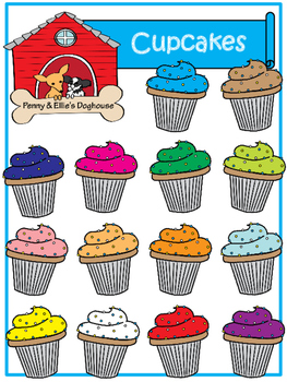 Cupcakes *Penny & Ellie's Doghouse Clipart*