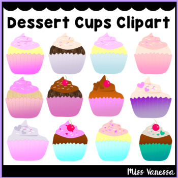 Cupcakes Clip Art ~ 12 Delicious Color PNG Images with Tra