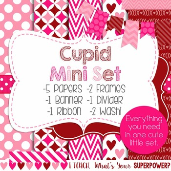Digital Paper and Frame Mini Set Valentine's Day