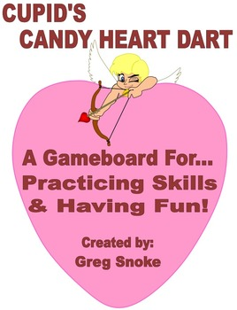 Cupid's Candy Heart Dart (Game Board Only)