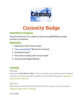 Curiosity Badge