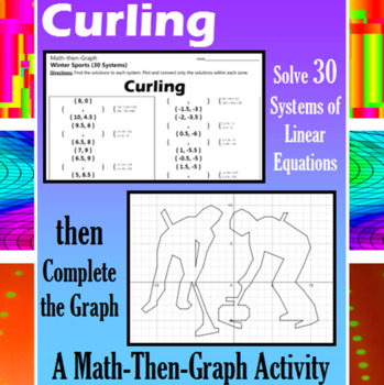Curling - 30 Systems & Coordinate Graphing Activity