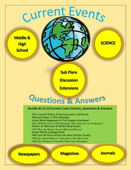Current Events Science:10 Current Events Bundle #2: Articl