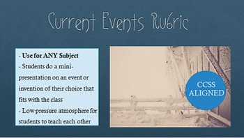 Current Events Mini-Presentation: Works with Many Subject Areas!
