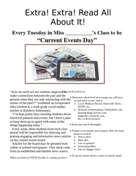 Current Events Newsletter