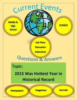 Current Events Science,Captain Planet:2015 Was Hottest Yea