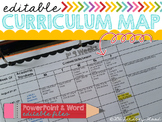 Curriculum Map - Editable