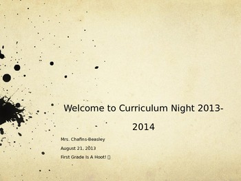 Curriculum Night PowerPoint