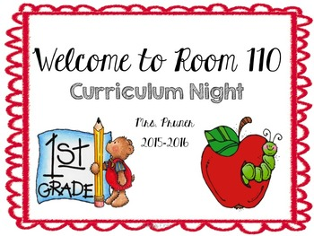 Curriculum Night Powerpoint Presentation (Completely Editable)