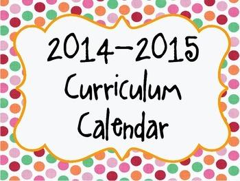 2014-2015 Curriculum Planner- Customization Available