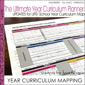 Year Planner - Back to School - FREE YEARLY UPDATES - Numb