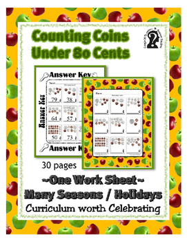 Curriculum worth Celebrating Counting Coins under 80 cents
