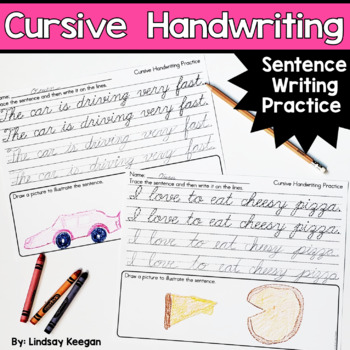 Cursive Handwriting - Sentence Writing Practice Pages