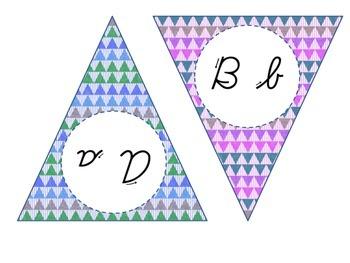 Cursive Alphabet Banner