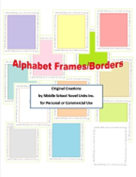 Cursive Alphabet Borders and Frames for Personal or Commer