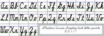 Cursive Alphabet Display (D'NEALIAN Cursive)