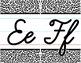 Cursive Alphabet Line - Black & White Leopard Print