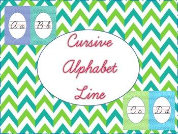 Cursive Alphabet Line Chevron