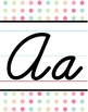 Cursive Alphabet Line - Sherbet Polka Dot