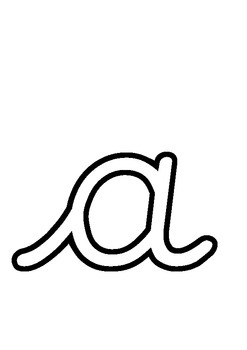 Cursive Alphabet Outlines - Decorate Your Own! Perfect for