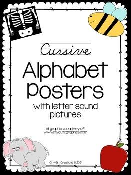 Cursive Alphabet Posters