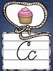 Cursive Alphabet Posters {Country Western Classroom Decor Theme}