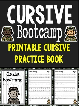 Cursive Bootcamp Printable Book