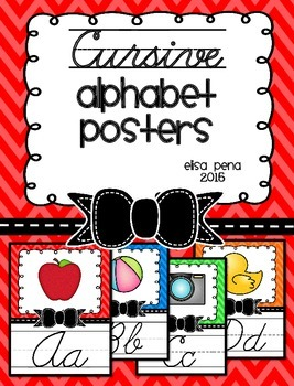Cursive Chevron Posters with Bow