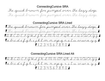 Cursive Font Family (SRA Style)
