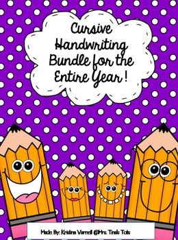 Cursive Handwriting Bundle for the Entire Year