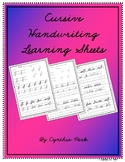 Cursive Handwriting Learning Sheets