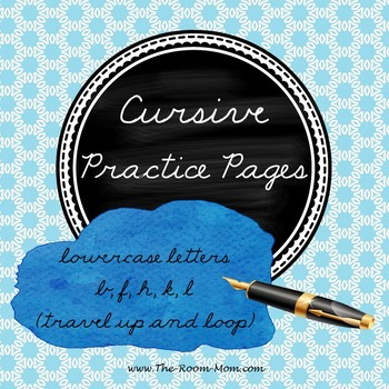 Cursive Handwriting (lowercase letters with tall loops)