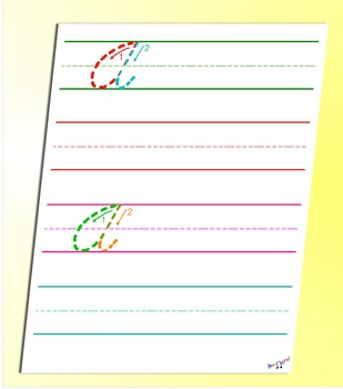 How To Write Cursive - Cursive A Worksheet - by Kidznote®