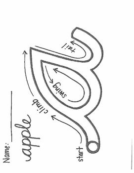 Cursive Letter 'a' Tracer
