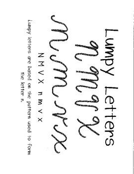 Cursive Practice- Lumpy Letters