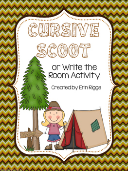 Cursive Scoot or Write the Room