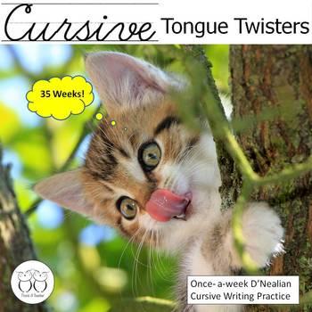 Cursive Tongue Twisters - 35 Weeks of Practice