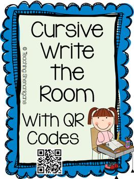 Cursive Write the Room- Cursive Letters A-Z with QR codes