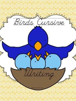 Cursive Writing: Names of Birds (No Prep Worksheets)