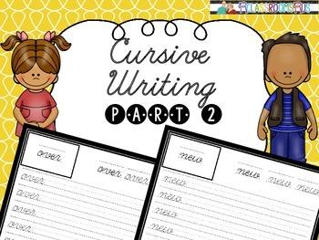 Cursive handwriting - Medium words