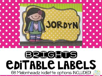 Curvy Editable Melonheadz Labels