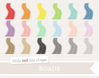 Curvy Road Clipart; Travel