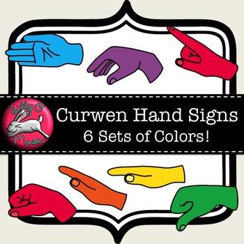 Curwen Hand Sign Clip Art